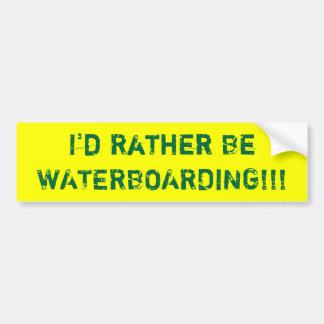 ¡Sería bastante WATERBOARDING!!! Pegatina Para Coche