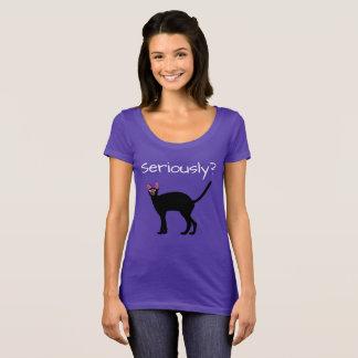 ¿Seriamente? Camiseta divertida del gato