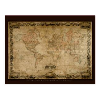 Serie antigua del mapa postales