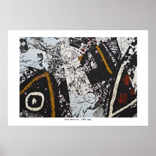 Serie de Denia - collage pintado en el papel Posters