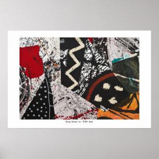 Serie de Denia - collage pintado en el papel Impresiones