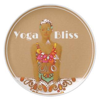 Serie de la dicha de la yoga plato