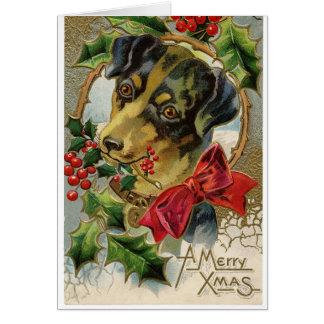 Serie de la tarjeta de Navidad del perro