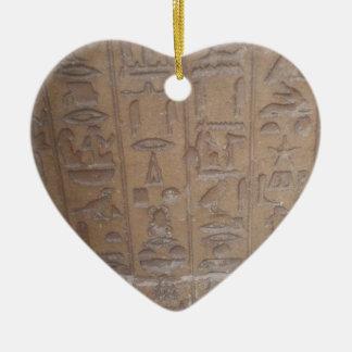 Serie de los Hieroglyphics Adorno De Cerámica