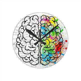 serie del cerebro reloj redondo mediano