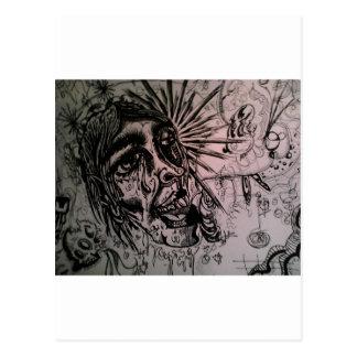 Serie del Enfermo-Arte de Austin Stilphens Postal