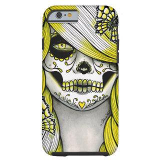 Serie del espectro - chica amarillo del cráneo del funda para iPhone 6 tough