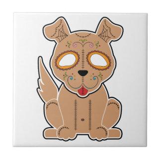 Serie del perrito del azúcar azulejo de cerámica