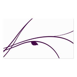 Serie floral - 02 - violeta tarjetas de visita