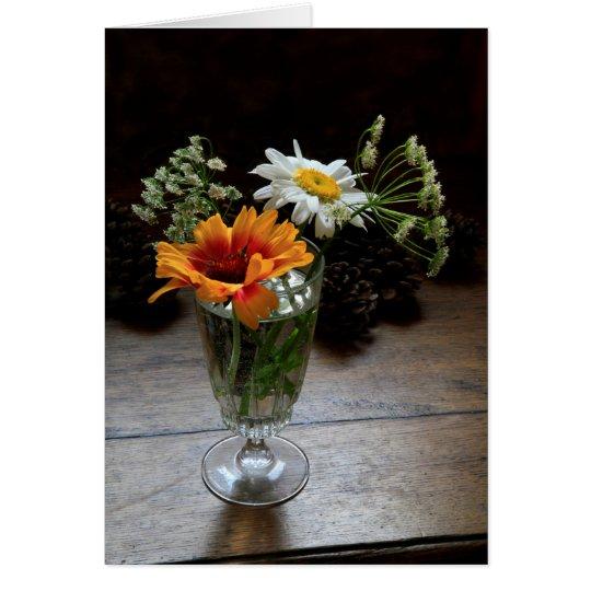 Serie floral de la tarjeta de felicitación