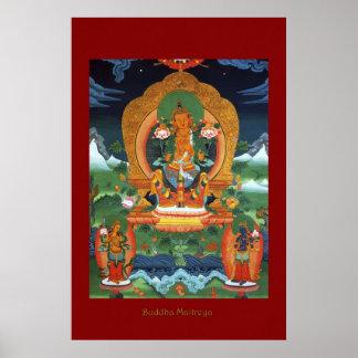 Serie religiosa del poster del arte de Buda