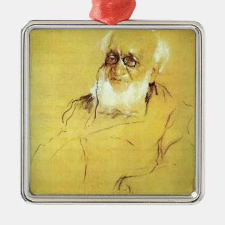 Serov-Retrato de Valentin de P. Adorno Cuadrado Plateado