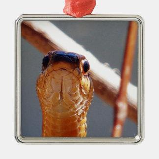 serpiente adorno navideño cuadrado de metal