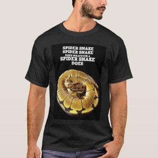 Serpiente de la araña camiseta