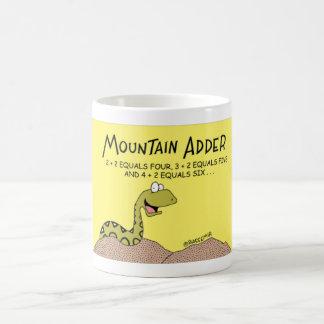 Serpiente de la serpiente de la montaña taza de café