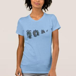 Serpiente de mar del remiendo, camiseta ligera