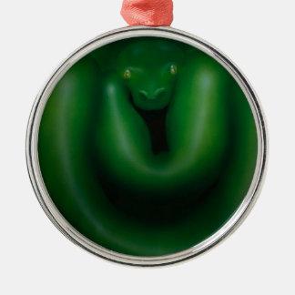 serpiente de rey adorno navideño redondo de metal