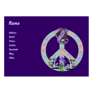 Serpiente del símbolo de paz tarjetas de visita grandes