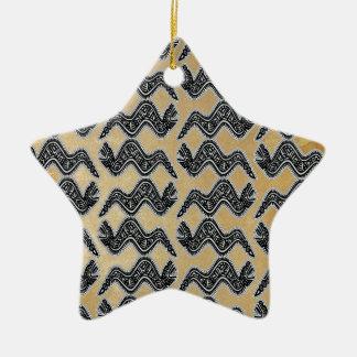 Serpiente mexicana adorno navideño de cerámica en forma de estrella