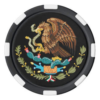 Serpiente y cactus de Eagle del escudo de armas de Juego De Fichas De Póquer