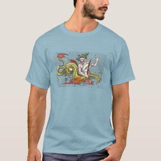 Serpiente y Lyre del mapa del mundo Camiseta