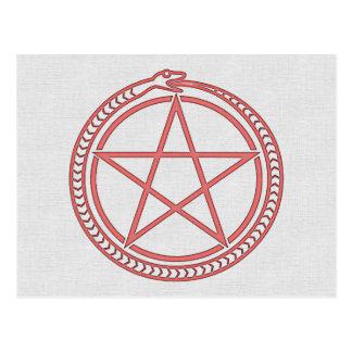 Serpiente y Pentagram Postal