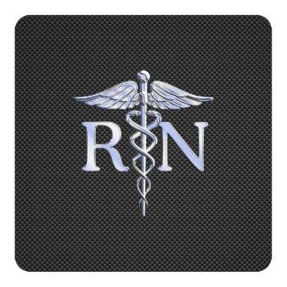 Serpientes del caduceo del RN de la enfermera Invitación 13,3 Cm X 13,3cm
