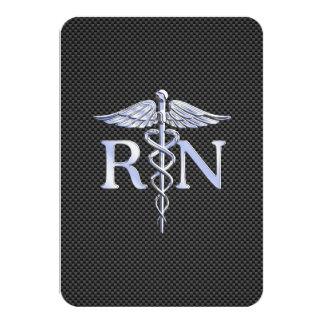 Serpientes del caduceo del RN de la enfermera Invitación 8,9 X 12,7 Cm