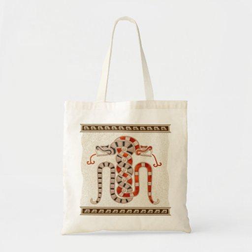 Serpientes entrelazadas mayas bolsas