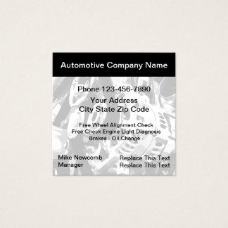 Servicio automotriz Businesscards Tarjeta De Visita Cuadrada