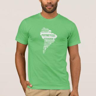 Servicio comunitario Ecuador en colores múltiples Camiseta