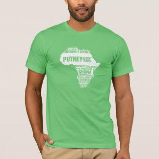 Servicio comunitario Ghana en colores múltiples Camiseta