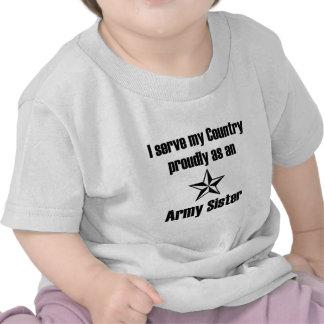 Servicio de la hermana del ejército orgulloso camisetas