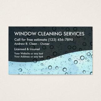 Servicio de la limpieza de ventana tarjeta de visita