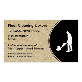 Servicio de la limpieza del piso tarjetas de visita