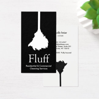 Servicio de la limpieza del plumero de la pluma tarjeta de visita