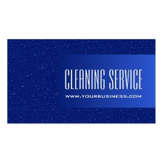 Servicio de la limpieza - descensos del agua tarjetas de visita