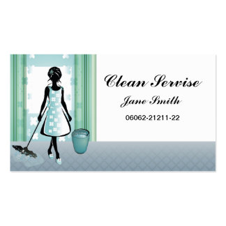 servicio de la limpieza tarjetas de visita