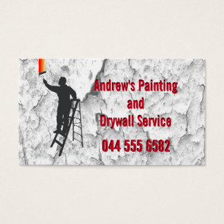 Servicio de la pintura del estuco tarjeta de visita