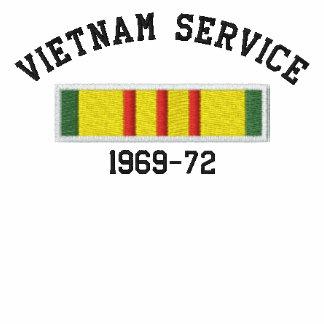 Servicio de Vietnam Chaqueta De Deporte Bordada Con Cremallera