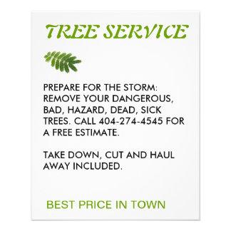 servicio del árbol folleto 11,4 x 14,2 cm