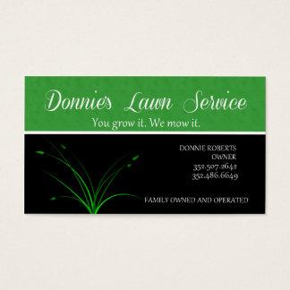 Servicio del césped tarjeta de negocios