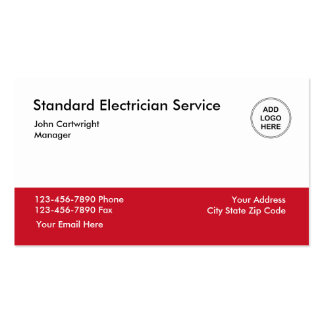 Servicio del electricista tarjetas de visita