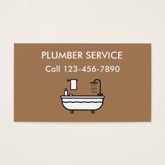 Servicio del fontanero tarjeta de negocios