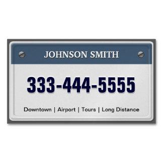 Servicio del Limo y del taxi - refresque la Tarjetas De Visita Magnéticas (paquete De 25)