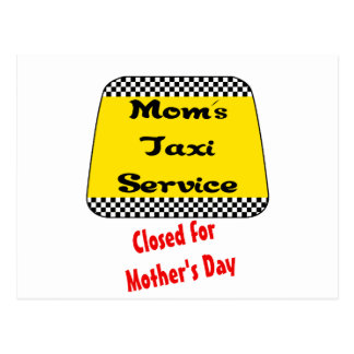 Servicio del taxi de la mamá: Cerrado para el día Postal