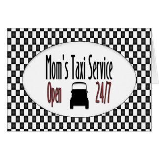 Servicio del taxi de la mamá tarjetas