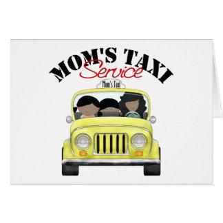 Servicio del taxi de la mamá felicitacion