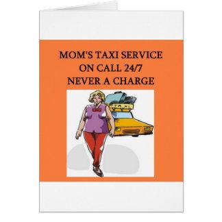 servicio del taxi de la mamá tarjeta de felicitación