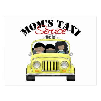 Servicio del taxi de la mamá postales